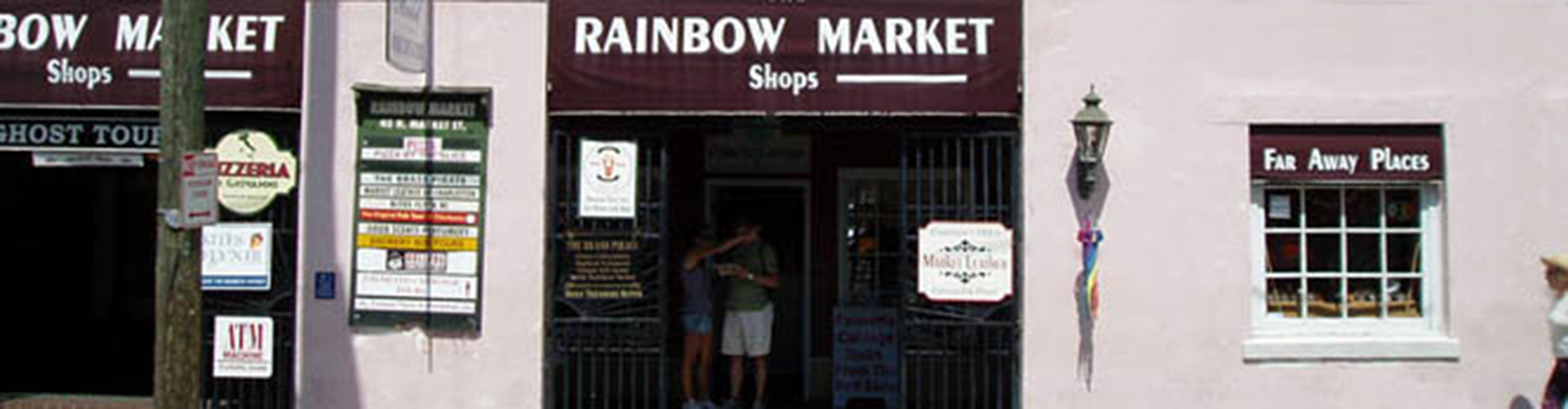We are in the Rainbow Market Shops near the historic City Market.